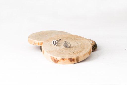náušnice mini kruh dvojitý